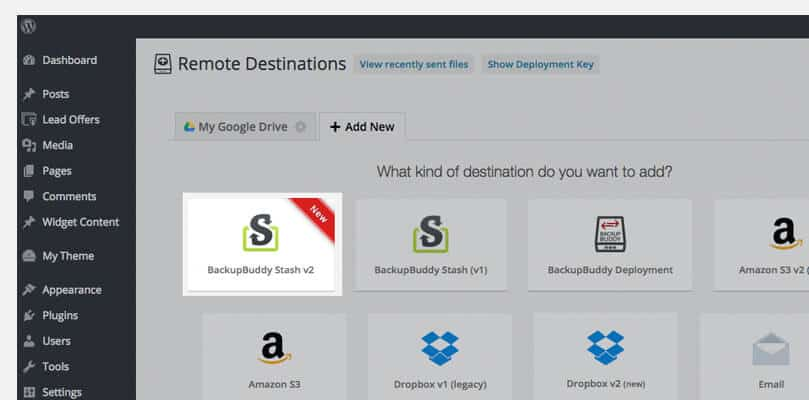 Remote Destination section and click on Add New