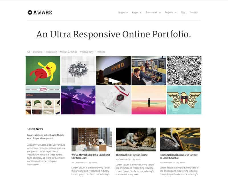 Aware WordPress Theme