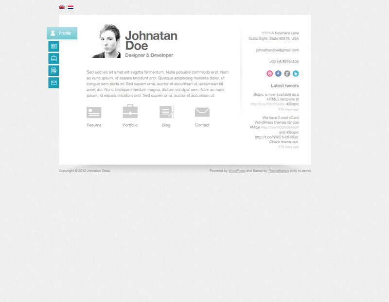 Biopic WordPress Theme