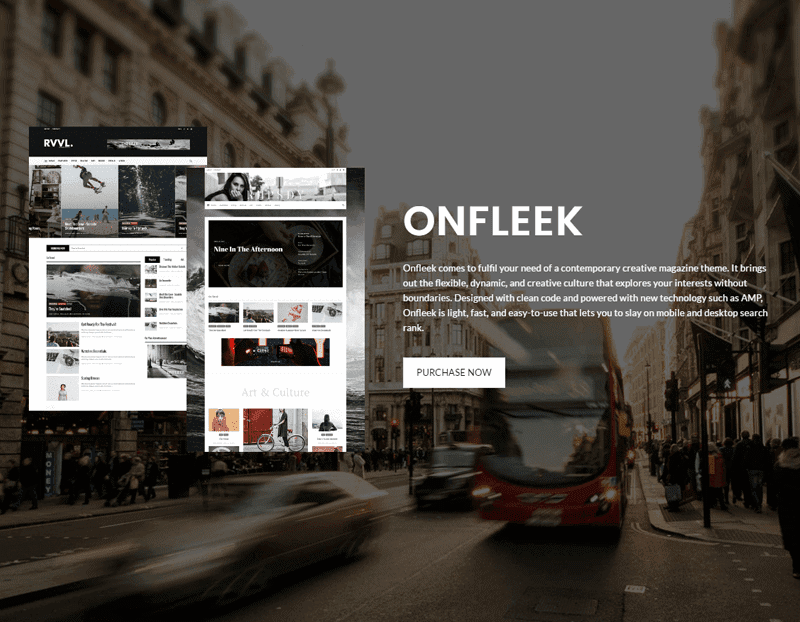 Onfleek Theme
