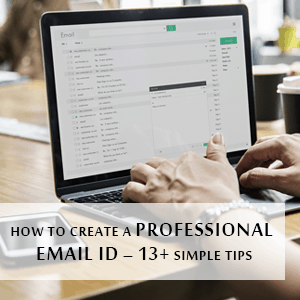How To Create A Professional Email Id